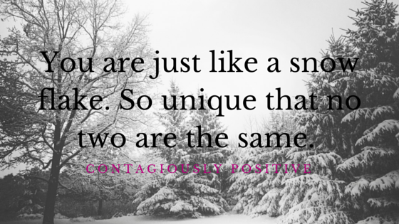 You Are Unique Like a Snowflake