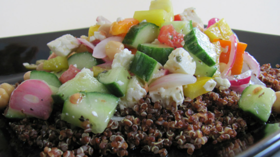 Quinoa & Chickpea Greek Salad copy
