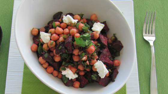 Roasted Beet & Chickpea Salad